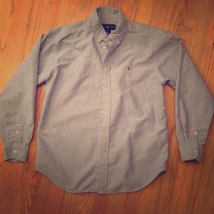 Ralph Lauren long sleeve button down boys size 16